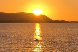 Sunset at Blue Anchor Self Catering